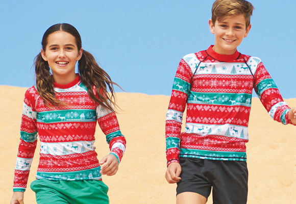 Christmas Rash Vests for Kids
